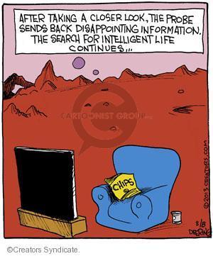 Cartoonist John Deering  Strange Brew 2013-08-08 television cartoon