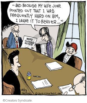 Cartoonist John Deering  Strange Brew 2013-08-23 television cartoon