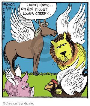 Comic Strip John Deering  Strange Brew 2013-08-31 lion