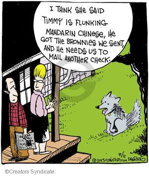 Cartoonist John Deering  Strange Brew 2013-09-11 student