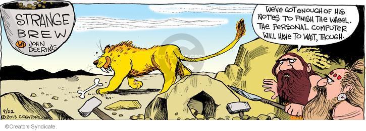 Comic Strip John Deering  Strange Brew 2013-09-22 tiger