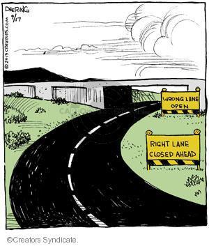 Cartoonist John Deering  Strange Brew 2013-09-17 route