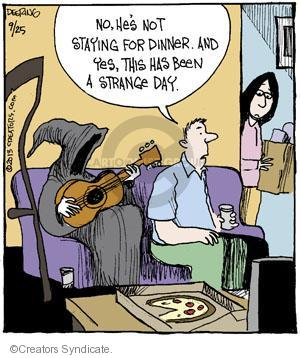 Comic Strip John Deering  Strange Brew 2013-09-25 extraordinary