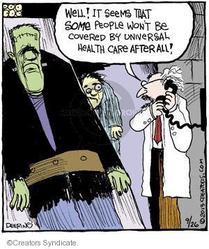 Comic Strip John Deering  Strange Brew 2013-09-26 health care