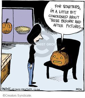 Comic Strip John Deering  Strange Brew 2013-10-24 pumpkin pie