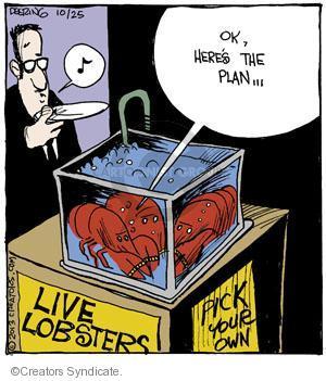 Cartoonist John Deering  Strange Brew 2013-10-25 eat