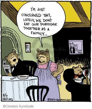 Comic Strip John Deering  Strange Brew 2013-11-07 dinner