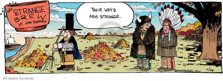 Comic Strip John Deering  Strange Brew 2013-11-24 Thanksgiving