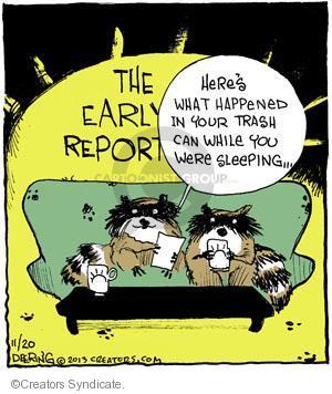 Cartoonist John Deering  Strange Brew 2013-11-20 television cartoon