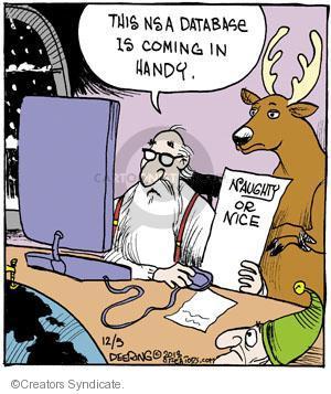 Comic Strip John Deering  Strange Brew 2013-12-05 NSA