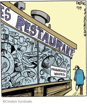 Cartoonist John Deering  Strange Brew 2013-12-09 eat