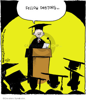 Comic Strip John Deering  Strange Brew 2013-12-17 college education