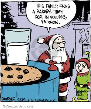 Cartoonist John Deering  Strange Brew 2013-12-25 Christmas cookie
