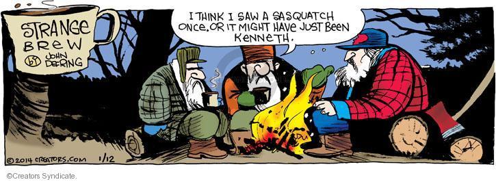 Comic Strip John Deering  Strange Brew 2014-01-12 Bigfoot