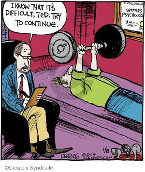 Comic Strip John Deering  Strange Brew 2014-01-08 sports psychology