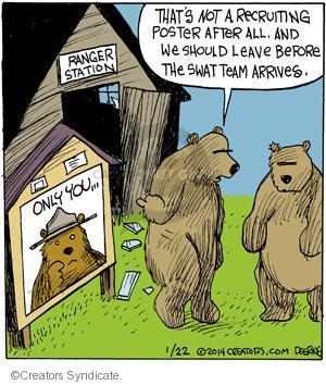 Comic Strip John Deering  Strange Brew 2014-01-22 wildlife