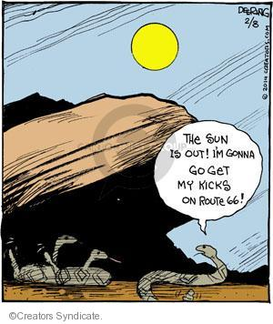 Cartoonist John Deering  Strange Brew 2014-02-08 route
