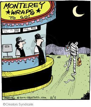 Cartoonist John Deering  Strange Brew 2014-02-11 eat