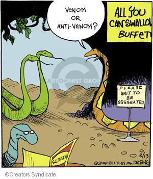 Cartoonist John Deering  Strange Brew 2014-02-13 eat