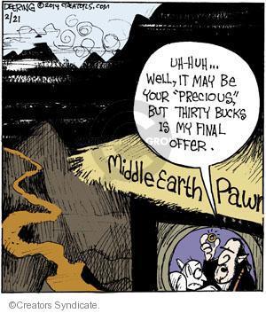 Comic Strip John Deering  Strange Brew 2014-02-21 broker