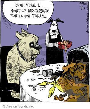 Comic Strip John Deering  Strange Brew 2014-03-19 dinner