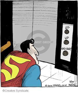 Comic Strip John Deering  Strange Brew 2014-03-20 slogan
