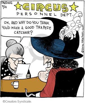 Comic Strip John Deering  Strange Brew 2014-03-21 catch
