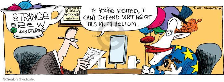 Comic Strip John Deering  Strange Brew 2014-04-06 preparer