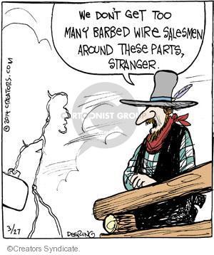 Comic Strip John Deering  Strange Brew 2014-03-27 fencing
