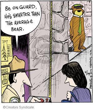 Cartoonist John Deering  Strange Brew 2014-04-14 guard