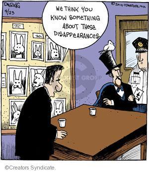 Cartoonist John Deering  Strange Brew 2014-04-23 magic