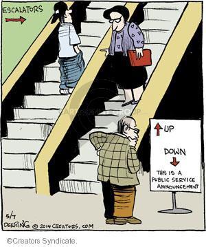 Cartoonist John Deering  Strange Brew 2014-05-07 arrow