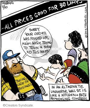 Comic Strip John Deering  Strange Brew 2014-05-10 stock market