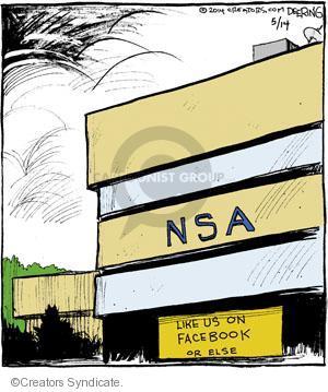 NSA. Like us on Facebook or else.
