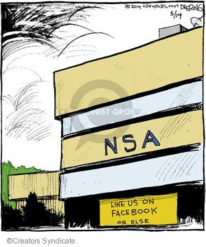 Comic Strip John Deering  Strange Brew 2014-05-14 NSA