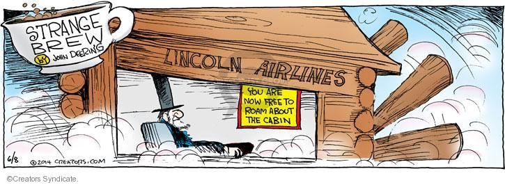 Comic Strip John Deering  Strange Brew 2014-06-08 airline travel