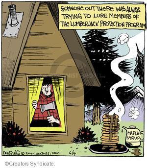 Comic Strip John Deering  Strange Brew 2014-06-04 pancake