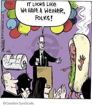 Cartoonist John Deering  Strange Brew 2014-06-05 hot dog