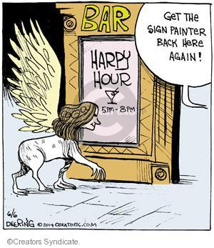 Comic Strip John Deering  Strange Brew 2014-06-06 happy