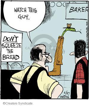 Cartoonist John Deering  Strange Brew 2014-06-27 bakery