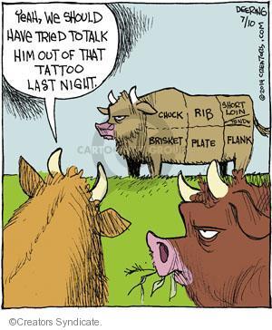 Comic Strip John Deering  Strange Brew 2014-07-10 cow