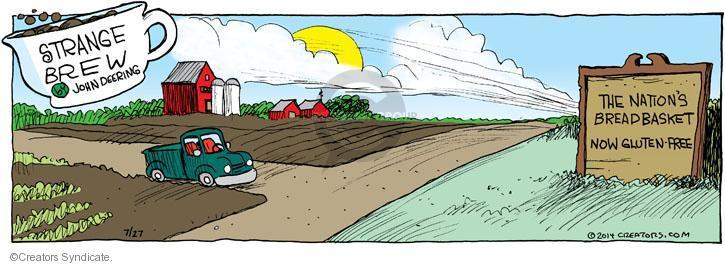Comic Strip John Deering  Strange Brew 2014-07-27 bread