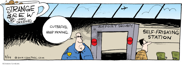 Comic Strip John Deering  Strange Brew 2014-08-24 air travel