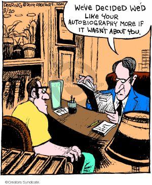 Comic Strip John Deering  Strange Brew 2014-08-20 subject matter