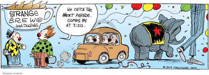 Comic Strip John Deering  Strange Brew 2014-09-07 catch