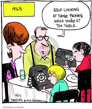 Comic Strip John Deering  Strange Brew 2014-08-25 family dinner