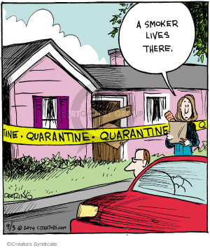 Cartoonist John Deering  Strange Brew 2014-09-03 cigarette