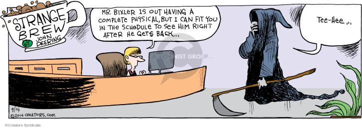 Comic Strip John Deering  Strange Brew 2014-09-14 administrative