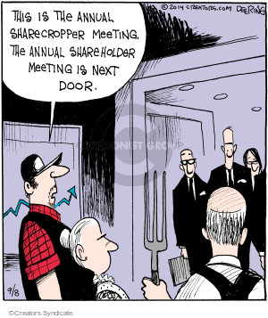 Comic Strip John Deering  Strange Brew 2014-09-08 annual meeting