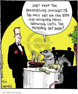 Comic Strip John Deering  Strange Brew 2014-09-13 dinner